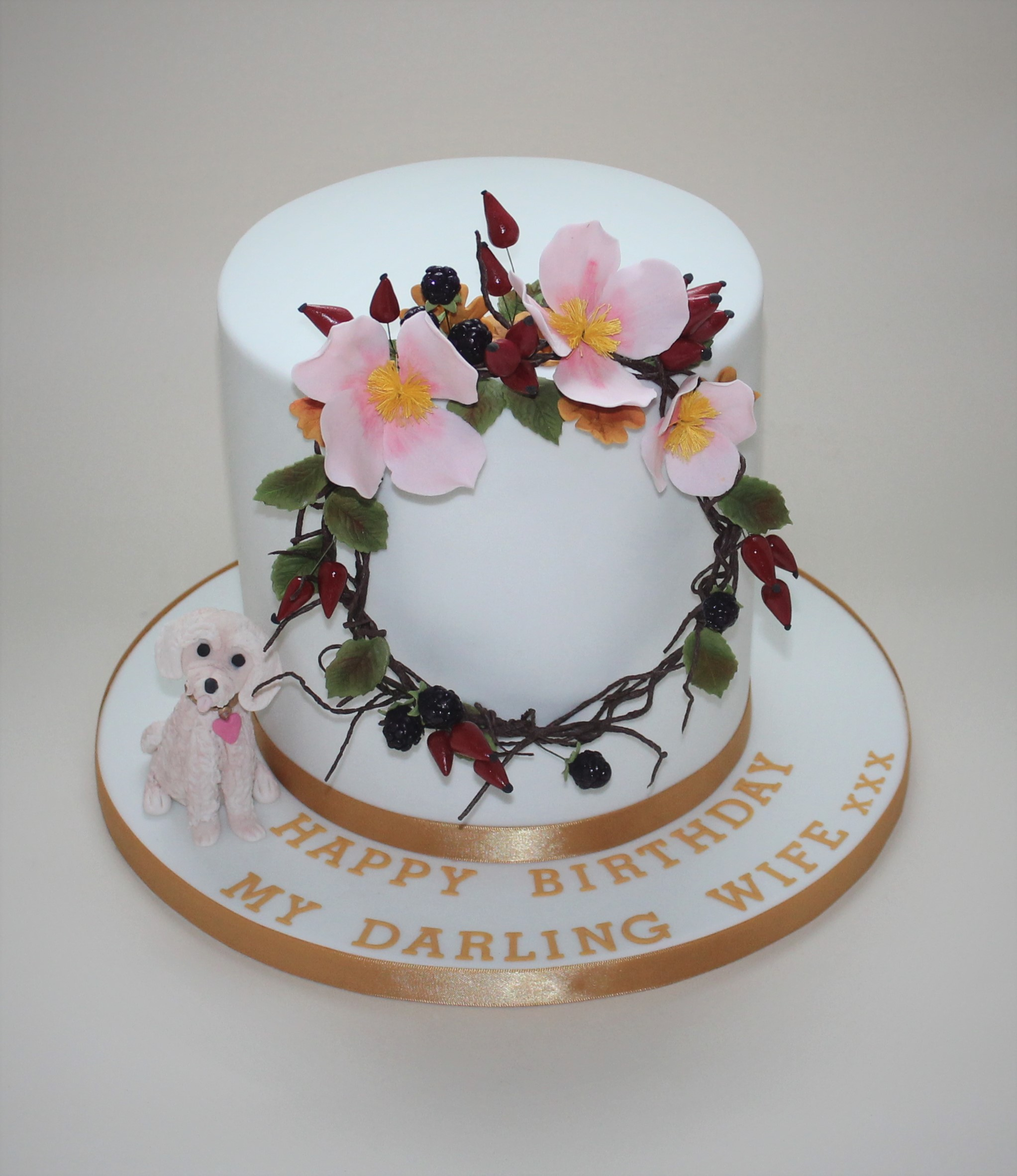 Floral hoop birthday cake  (2)