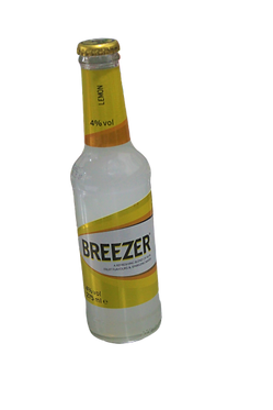 Breezer Fruit Flavors and Sparkling yellow