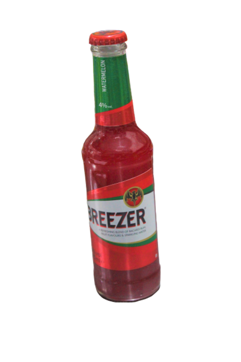 Breezer Fruit Flavors and Sparkling red