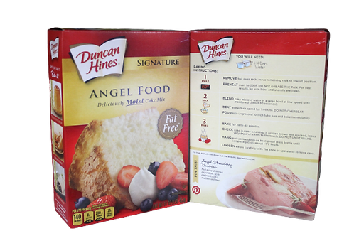 Deliciously Moist Cake Mix, Angel Food