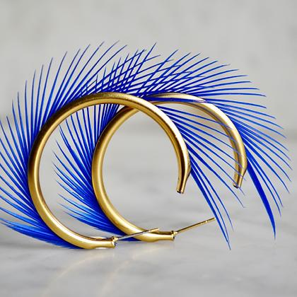 Créoles plumes et or