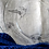Thumbnail: Assiette plate gravée en verre