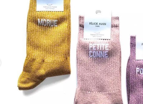 CHAUSSETTES FEMME TENDRES INJURES