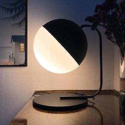 LAMPE GEANTE BOULE METAL ET VERRE