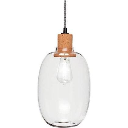 LAMPE VERRE TRANSPARENT ET LIEGE