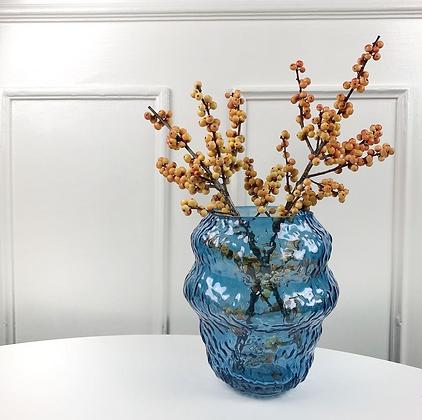 Vase bleu irrégulier