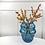 Thumbnail: Vase bleu irrégulier