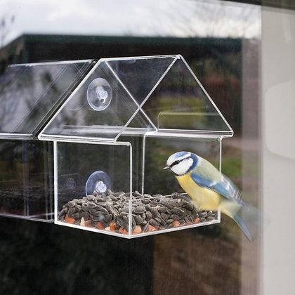 Mangeoire à oiseaux transparente