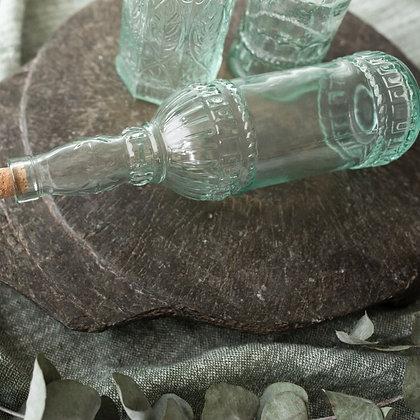 Bouteille verre sculpté bouchon liège