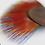 Thumbnail: Boucles d'oreille plumes et cuir