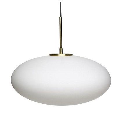 LAMPE BULLE VERRE BLANC DEPOLI OU NOIR MIROIR ET LAITON