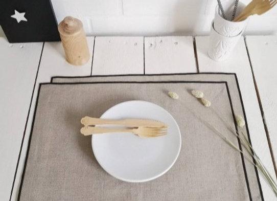SET DE TABLE EN LIN ENDUIT