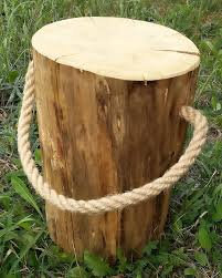 Table tronc avec corde moyenne
