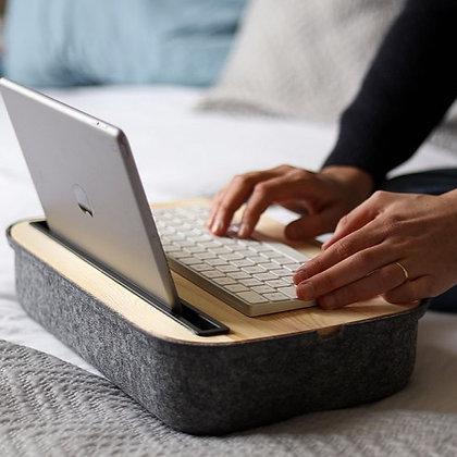 Support coussin et boite pour ordinateur ou tablette