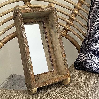 Ancien moule à brique miroir
