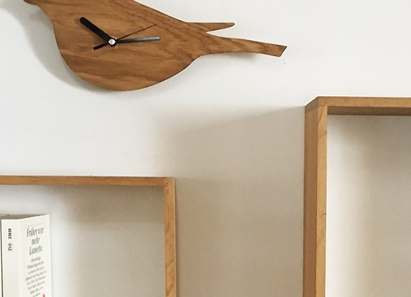 Horloge oiseau en bois