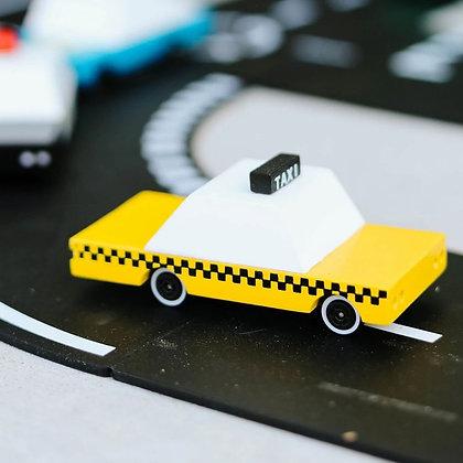 Voiture taxi en bois