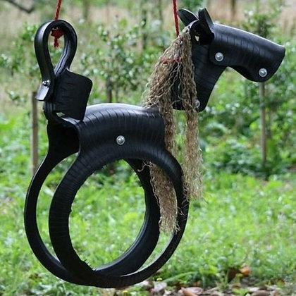BALANCOIRE CHEVAL / HORSE SWING !