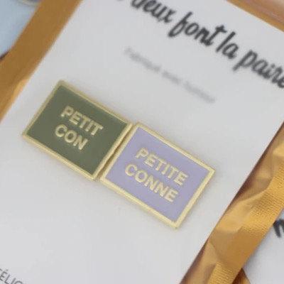 2 PIN'S PETIT CON PETITE CONNE