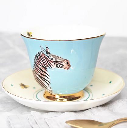 Tasse et sous tasse porcelaine