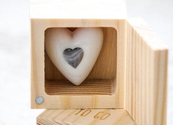 Porte bonheur porcelaine coeur