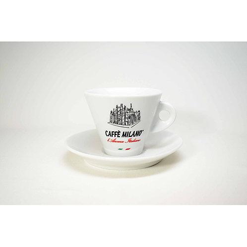 Tazzina cappuccino Caffè Milano bianca 6 pz