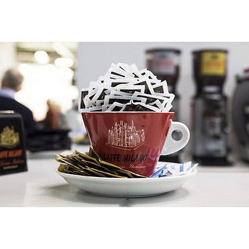 Tazza Portazzucchero caffè Milano rossa