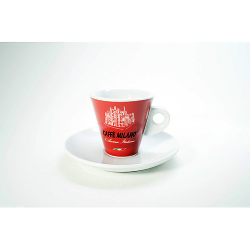 Tazzina caffè Milano rossa 12 pz