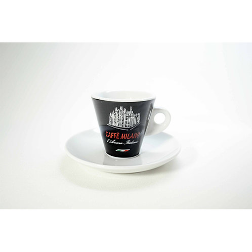Tazzina caffè Milano nera 12 pz