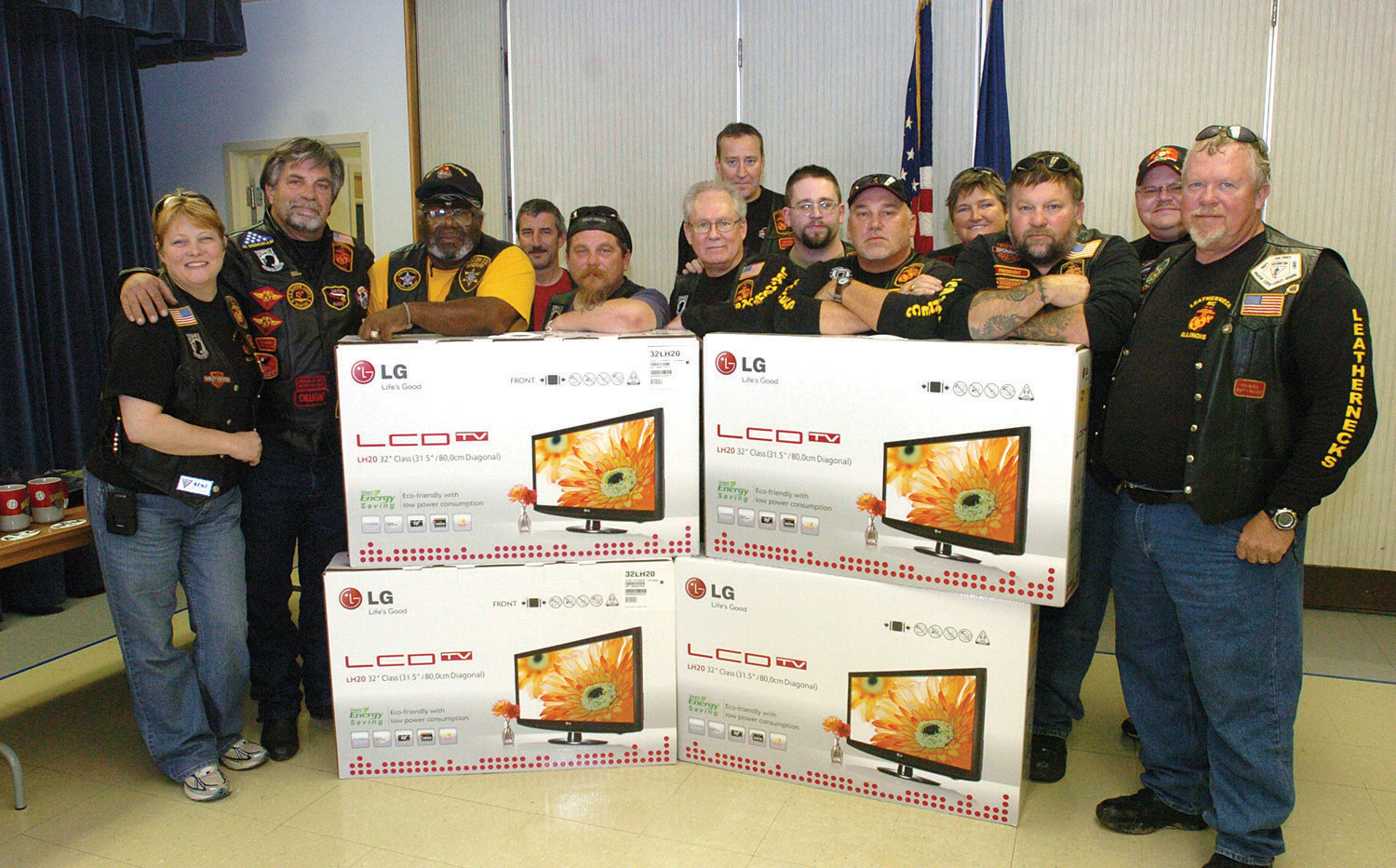 4 new flat screen TV's replace those destoyed in VA hospital fire