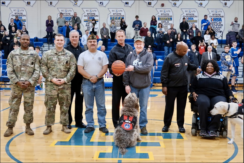 Lake Forest Basketball Military Appreciation Game