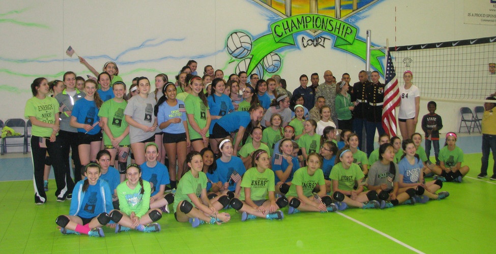 Energy Volleyball Club Share The Court With America's Military Heroes
