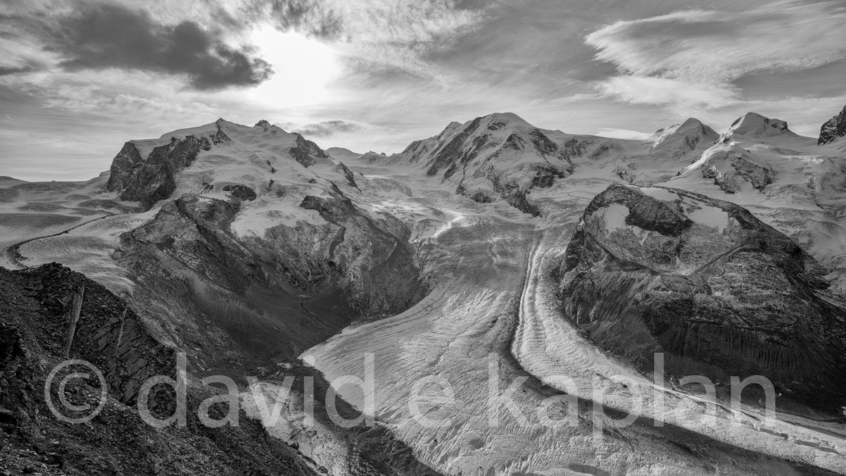 Sunrise Down the Gorner Glacier