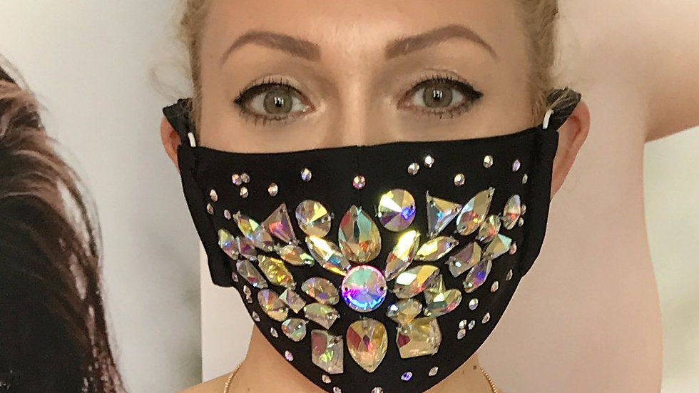 Shine Crystal Mask - Black