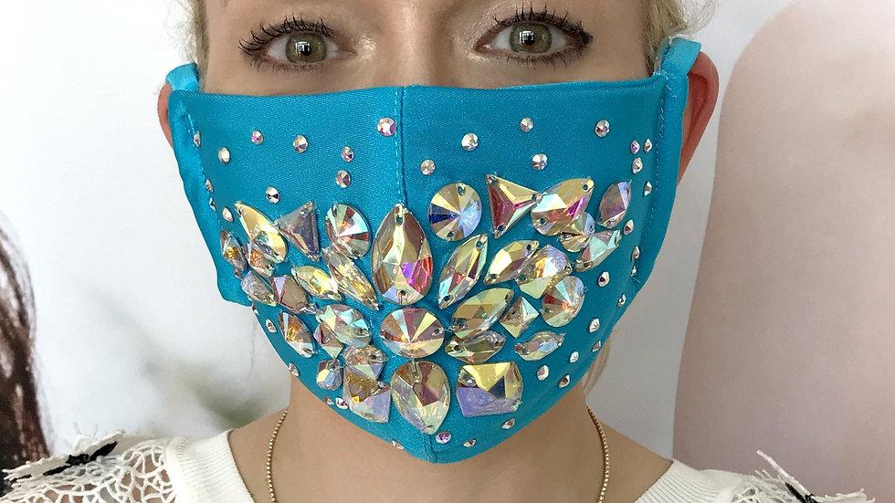 Shine Crystal Mask - Turquoise