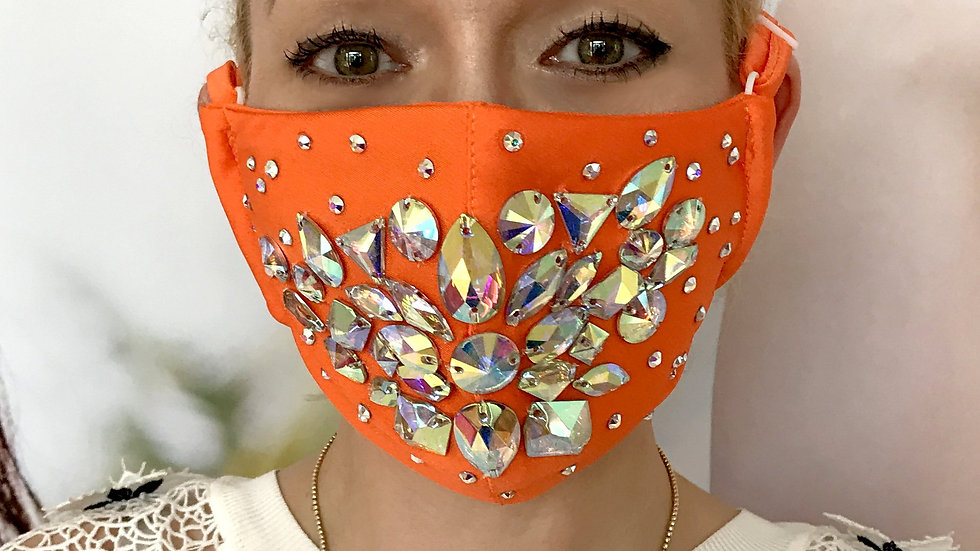 Shine Crystal Mask - Orange