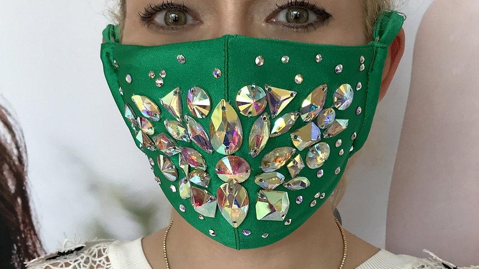Shine Crystal Mask - Green