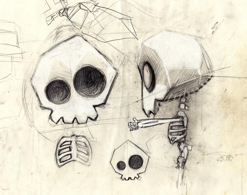 Etude tenny tiny skull.