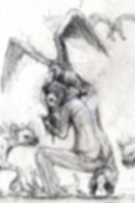 Hyena Contention. Sketch.