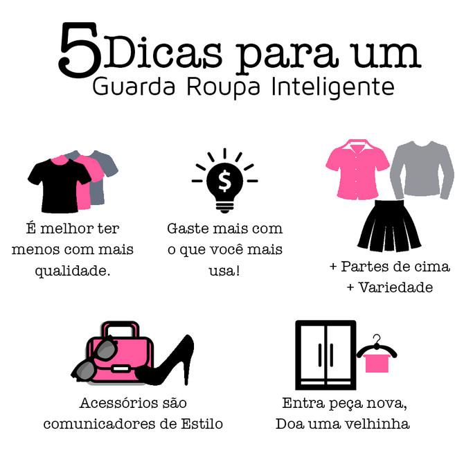 5 Dicas para um guarda roupa inteligente