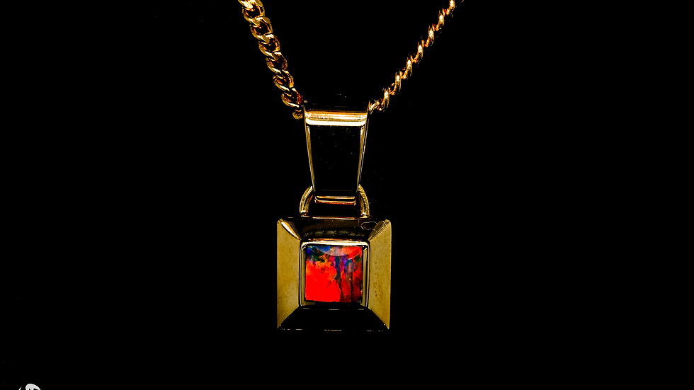Ruby Red Opal Pendant