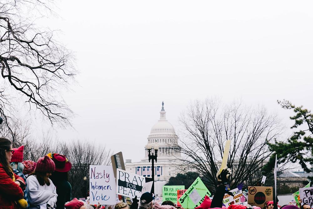 Protest in Washington with Peninsula Family Coaching