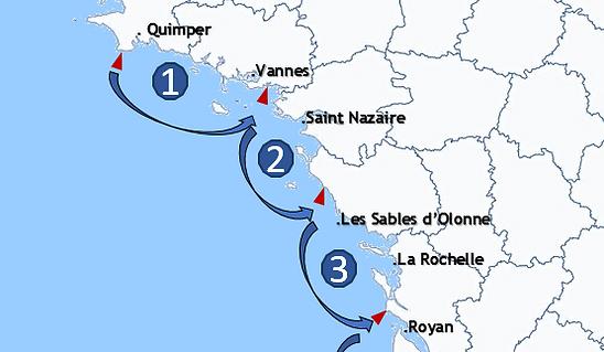 Publicité aérienne Finistère, Morbihan, Loire Atlantique, Vendée, Charentes Maritimes.