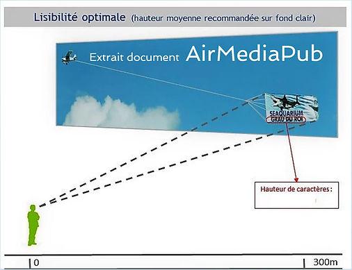 Banderole aérienne : Taille et visibilité optimale - Air média Pub