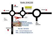 Plan d'accès Air Midi Passion Baptemes de l'air Ecole de pilotage Hérault