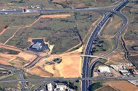 Photo aérienne chantier d'autoroute