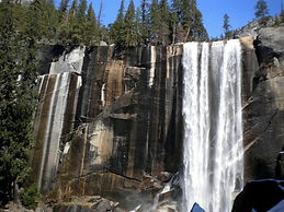 Private, guided snowshoeing adventure to the famed Vernal Falls from Yosemite Valley in Yosemite National Park. Available for visitors ages 9 and up.