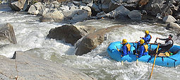 2 day and 1 night advanced whitewater rafting trip in the Sierra foothills just 75 minutes from Yosemite Valley for visitors 16 years old and up.