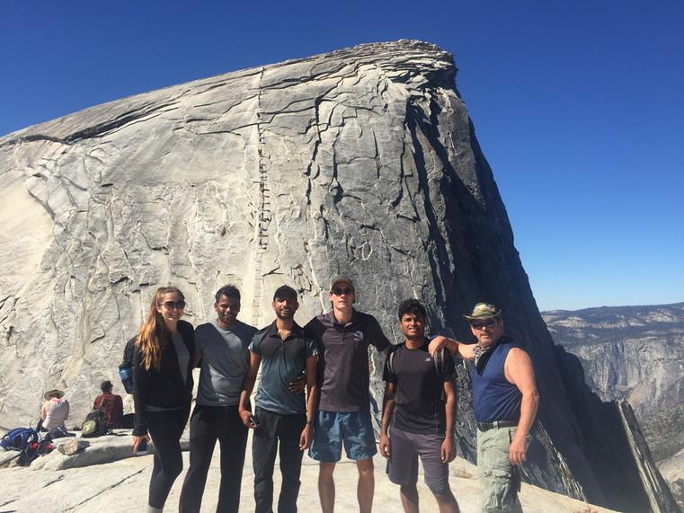 Standing below Half Dome