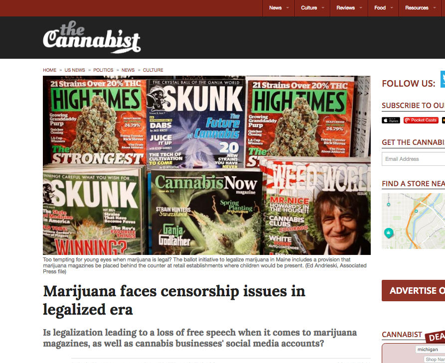 Marijuana Censorship Issues